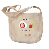 Strawberry Mochi Organic Cotton Farmer Sling Bag