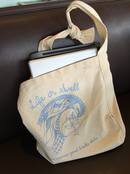 100% ORGANIC Cotton Canvas Sling Tote - A beautiful gift wrap bag, too!