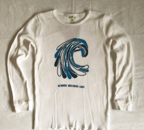 """Wavedrops Swell"" 100% ORGANIC Cotton Ladies' Thermal Shirt"