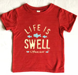 """Big Swell, Little Fish - Hawaii"" Toddler Tee in Organic Cotton or Eco Blend"