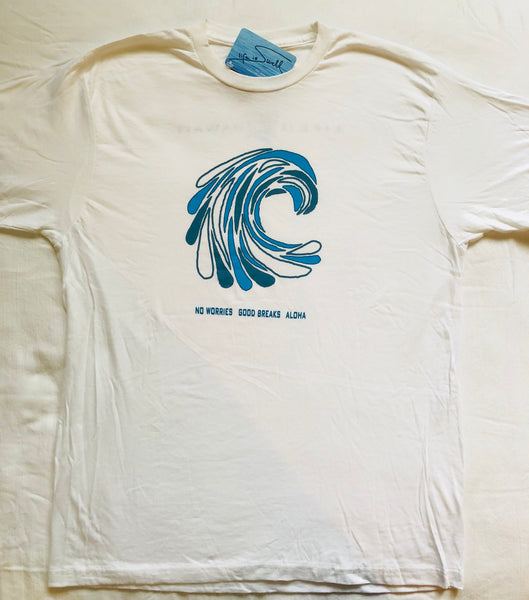"""Wavedrops"" 100% ORGANIC Cotton Unisex Big Swell Tee"