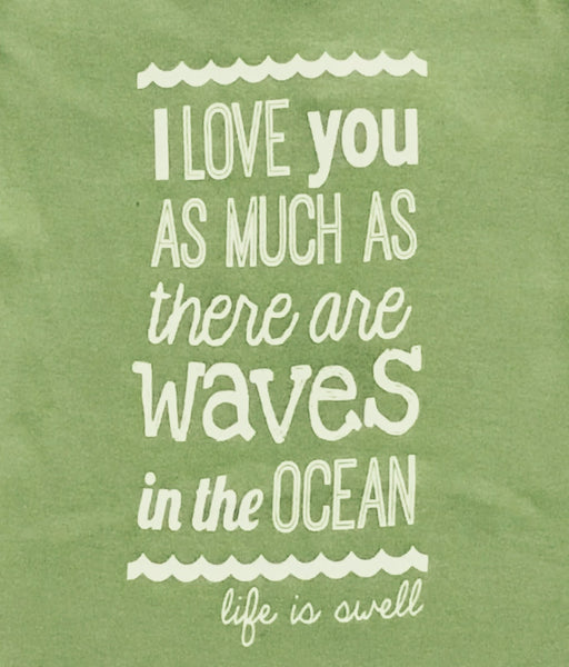 """Much As Waves"" 100% ORGANIC Cotton Baby Long Sleeve Lapover Shirt"