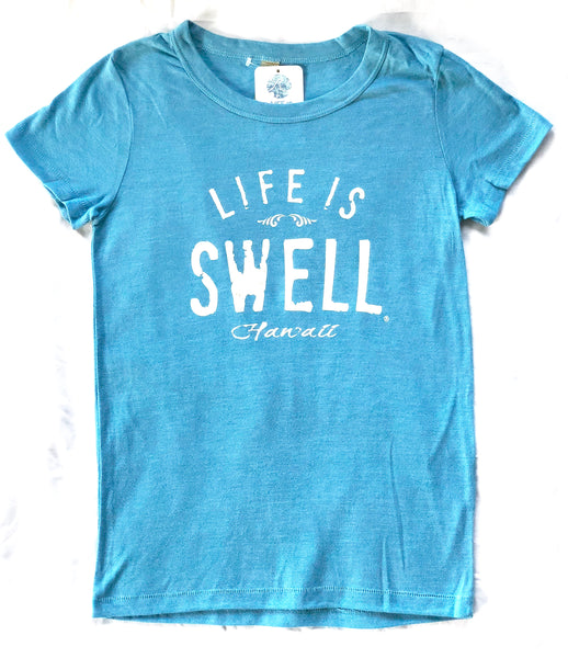 """Big Swell - Hawaii"" Women's T-shirts in 100% Organic Cotton or Eco Blend Jersey"