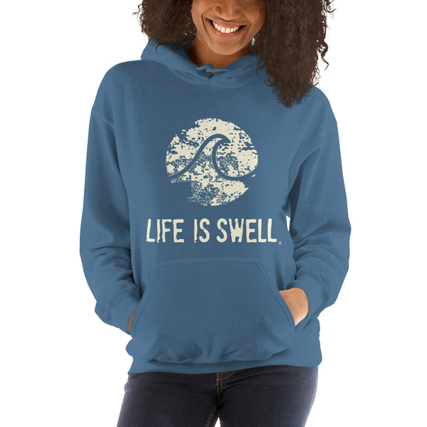 Life Is Swell Logo Wave Unisex Hoodie