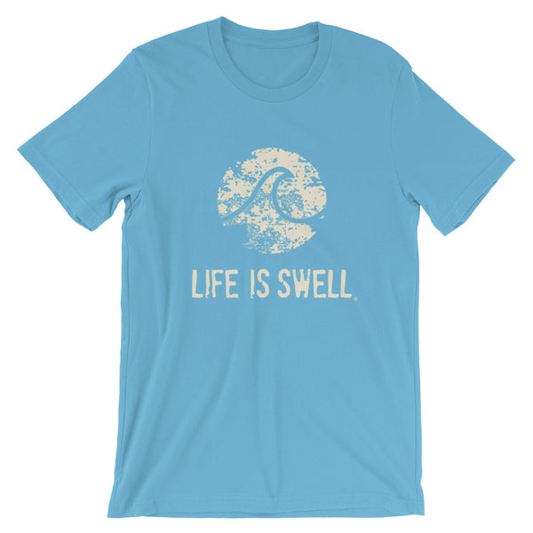 Life Is Swell Logo Wave Short-Sleeve Unisex T-Shirt