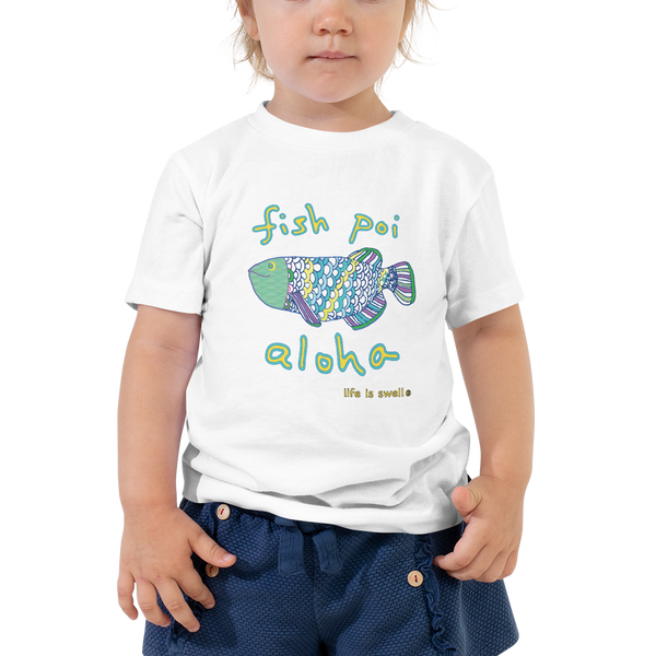 """Fish, Poi, Aloha"" Toddler Tee"