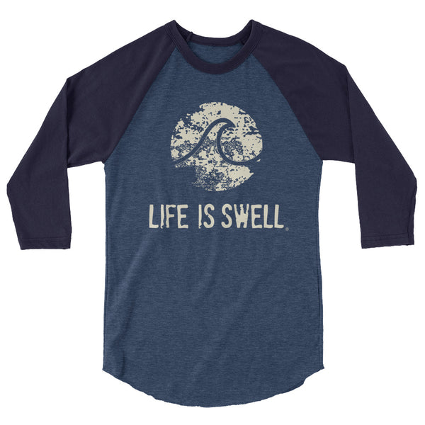 Life Is Swell 3/4 sleeve unisex baseball tee