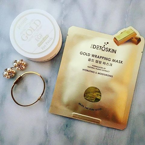 Detoskin by KEEOME 24k Gold Foil Mask 99.9% Pure