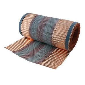 ventilated copper ridge roll 390 mm x 5m,ventilated ,copper, ridge roll