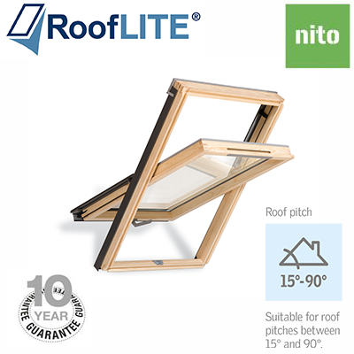 Roof Lite - Centre Pivot Window - Pine Finish