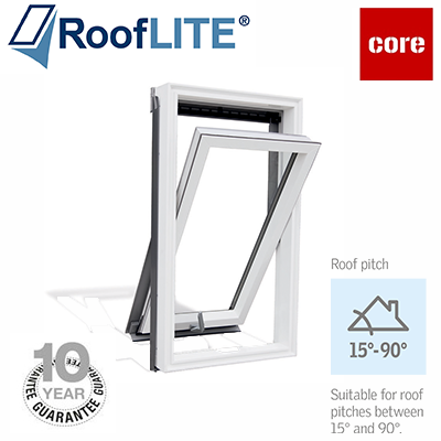 Roof Lite - Centre Pivot Window - White Painted Finish