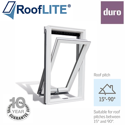 Roof Lite - Centre Pivot Window - White Polyurethane