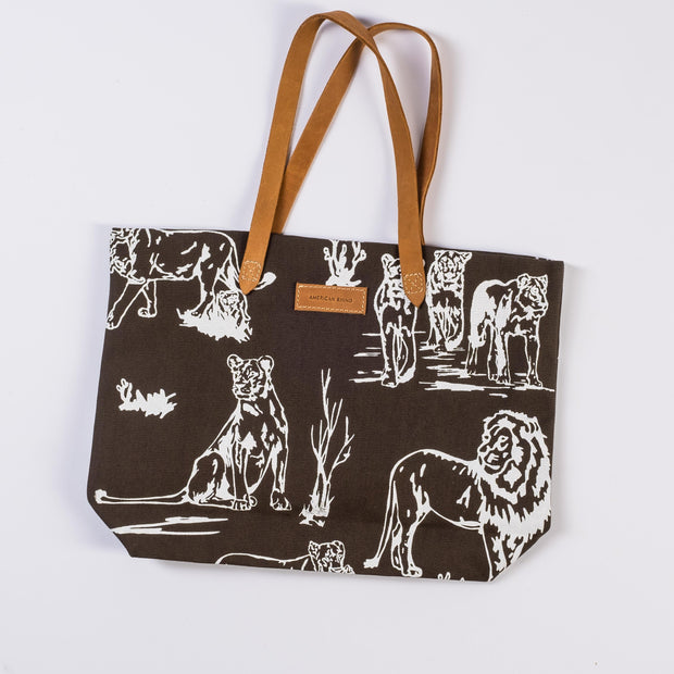 Lion Canvas Tote