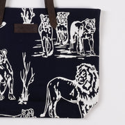 Lion Canvas Market Tote