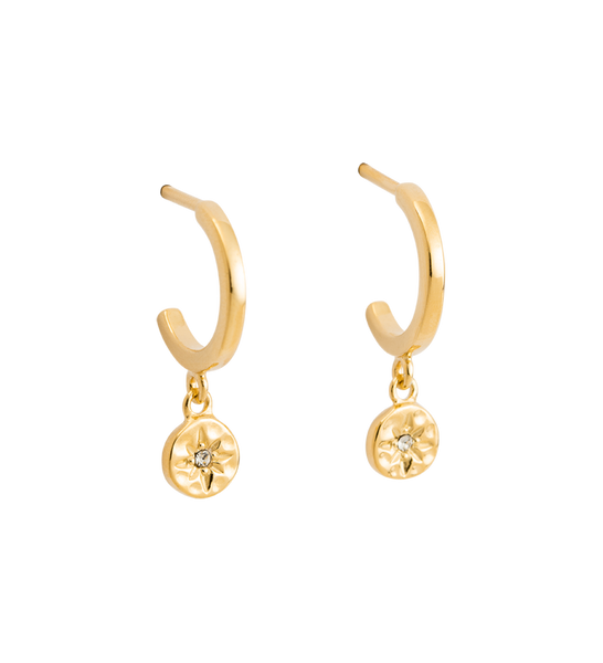 STAR COIN HOOPS 18K GOLD PLATED - SET | Kirstin Ash