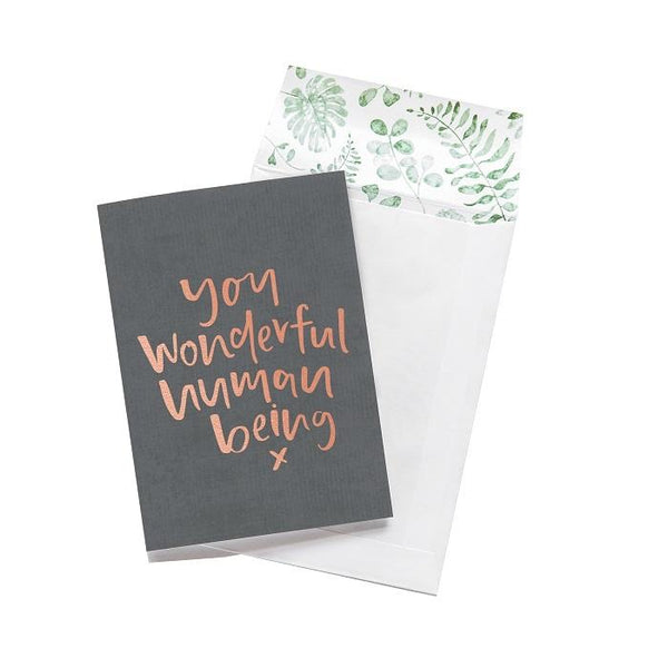 You Wonderful Human Being | Card