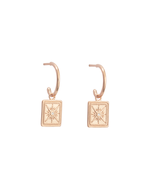 True North Hoops Set | 18K Rose Gold Plated | Kirstin Ash
