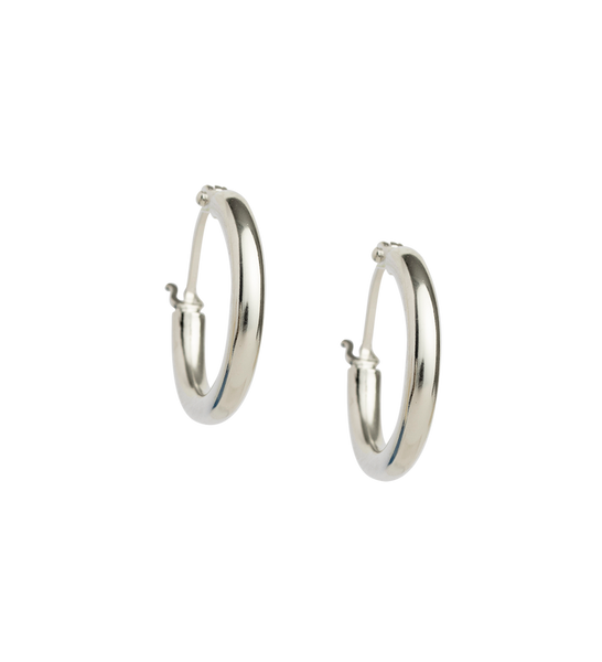TIDAL HOOPS SMALL STERLING SILVER - SET | Kirstin Ash