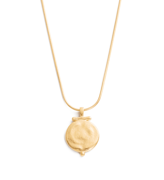 ENGRAVABLE POEM NECKLACE 18K GOLD VERMEIL | Kirstin Ash