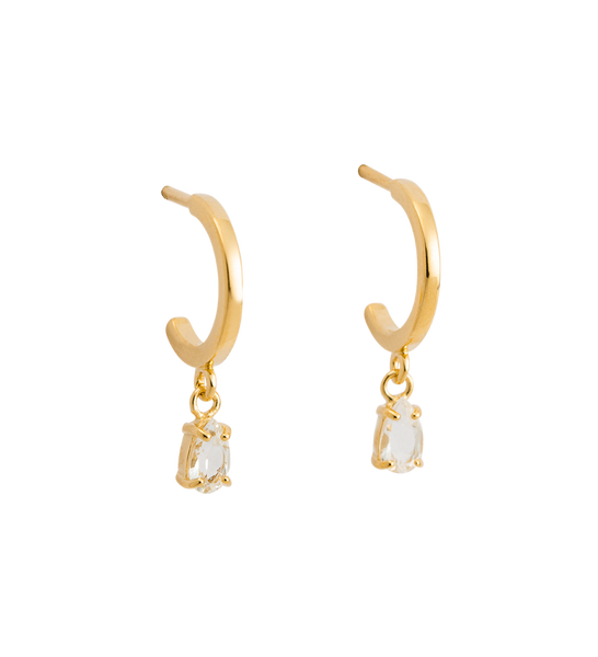 TEARDROP HOOPS 18K GOLD PLATED - SET | Kirstin Ash