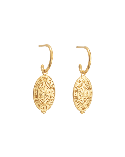 Palm Coin Hoops Set | 18K Gold Plated | Kirstin Ash