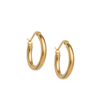 TIDAL HOOPS SMALL 18K GOLD PLATED - SET