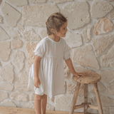 Short Sleeve Yumi Dress | Oat