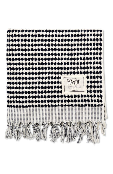 Mayde Crescent Towel | Black & White