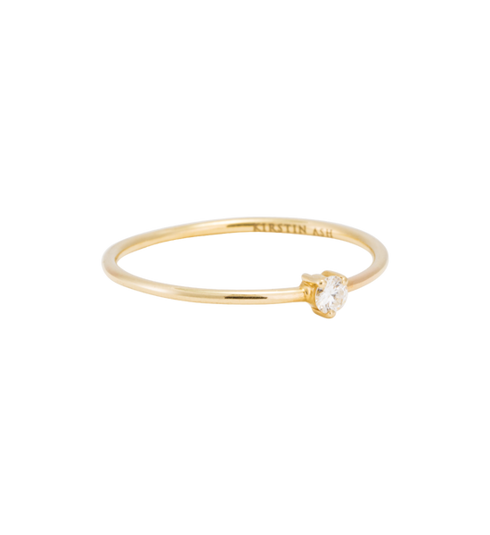 Tiny Diamond Ring | 14K Gold | Kirstin Ash
