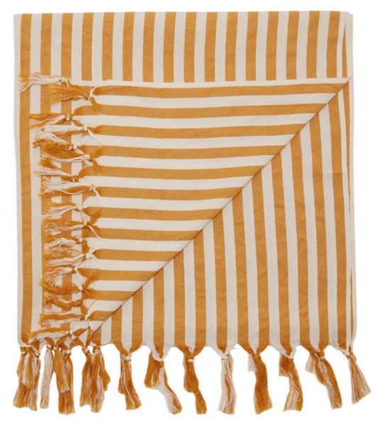 Mayde Palm Cove Towel | Mustard