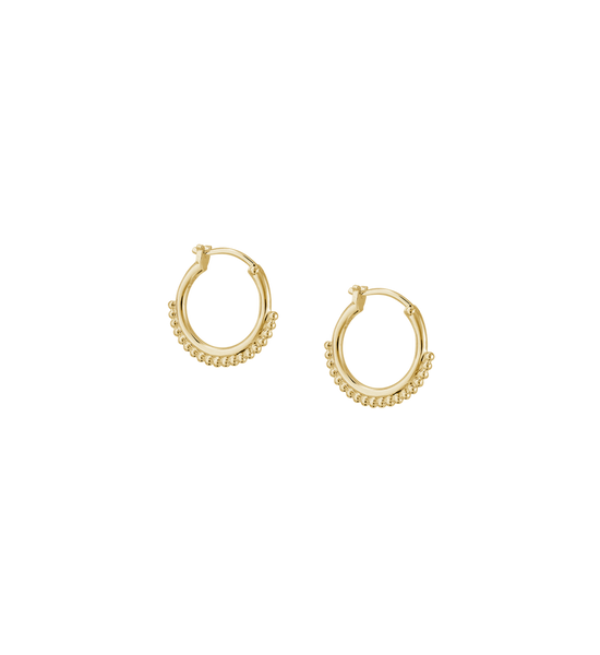 DETAIL HOOP EARRING 18K GOLD PLATED - SET