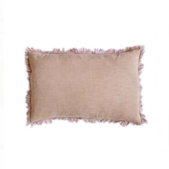 Ramie Fringed Lumbar Cushion