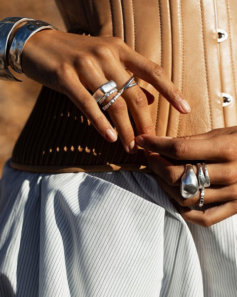 Essence Stacking Ring Set | Sterling Silver | Kirstin Ash