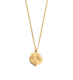 DESERT SUN COIN NECKLACE 18K GOLD VERMEIL | Kirstin Ash