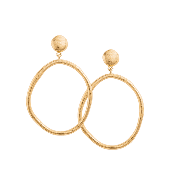 GOLDEN LIGHT EARRINGS 18K GOLD PLATED - SET