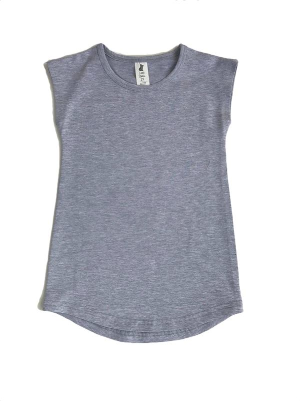 Wolfie Tee Dress - Grey