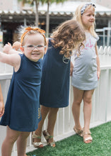 Wolfie Swing Dress - Navy - Toddler Wear - Dresses for Girls Australia
