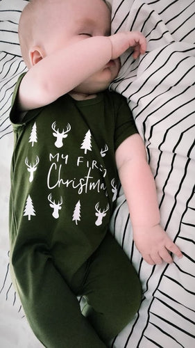 Wolfie Christmas My First Christmas Romper