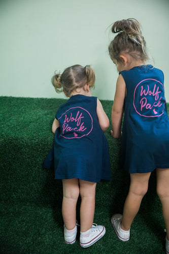 designer baby clothes australia - Wolf Pack Dresses Twin Pack - designer clothes for toddlers