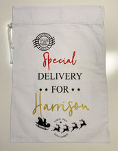 Wolfie Christmas Personalised Santa Sack - Special Delivery