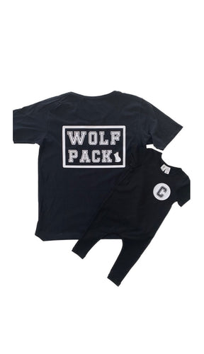 Wolf Pack Family Set COLLEGE Design (Father's Day Set)