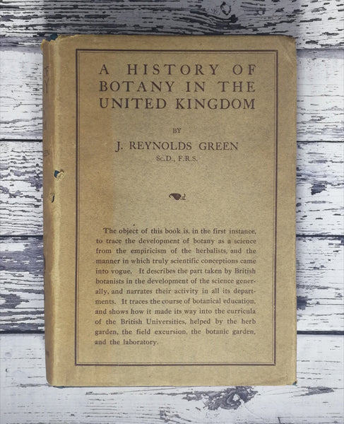 A History of Botany in the United Kingdom