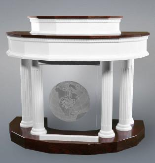 Wood with Acrylic Pulpit Custom No. 5