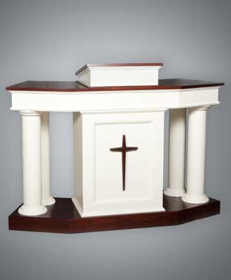 Traditional Colonial Church Pulpit