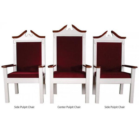 "Clergy Church Chair TPC-603S Series 48"" Height Side Pulpit Chair"