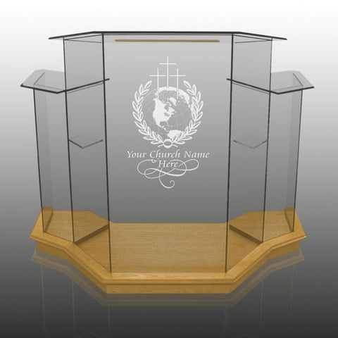 Glass Pulpit NC1/NC1G Prestige WINGED