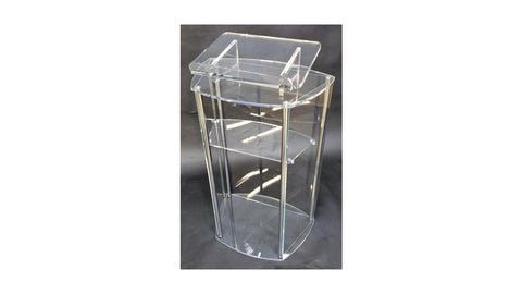Acrylic Lectern with Post