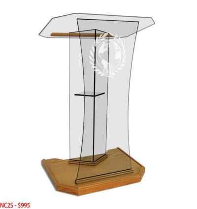 Glass Pulpit NC2S/NC2SG Prestige The SPEAKER