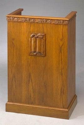 Church Wood Pulpit Single NO 501-Church Solid Wood Pulpits, Podiums and Lecterns-Podiums Direct