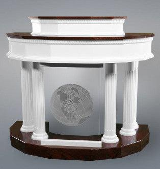 Wood with Acrylic Pulpit Custom No. 5-Wood With Acrylic Pulpits, Podiums and Lecterns-Podiums Direct